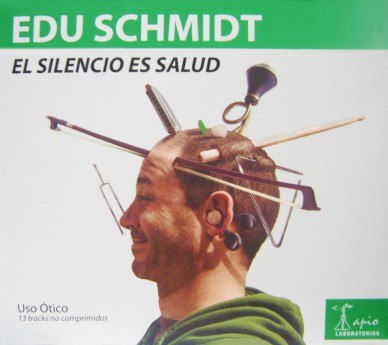 Tapa del primer CD de Edu Schmidt, El silencio es salud